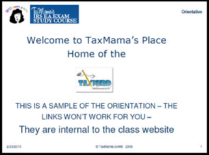 Mini Orientation for TaxMama's EA Exam Course